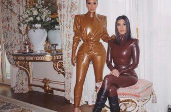 Ким Кардашьян и латексный костюм